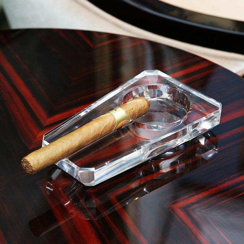 Изысканный хрусталь стеклянная сигарета пепельница для сигарет использование практичный подарок Прочное прозрачное пепельница аксессуар...