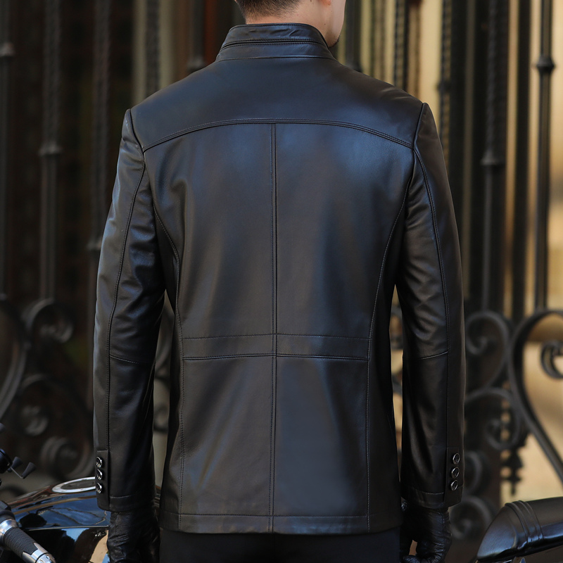 Genuine Jacket Men Spring Autumn Real Sheepskin Coat Mens Leather Jackets Plus Size Veste Moto Homme BANG12A1238 YY421