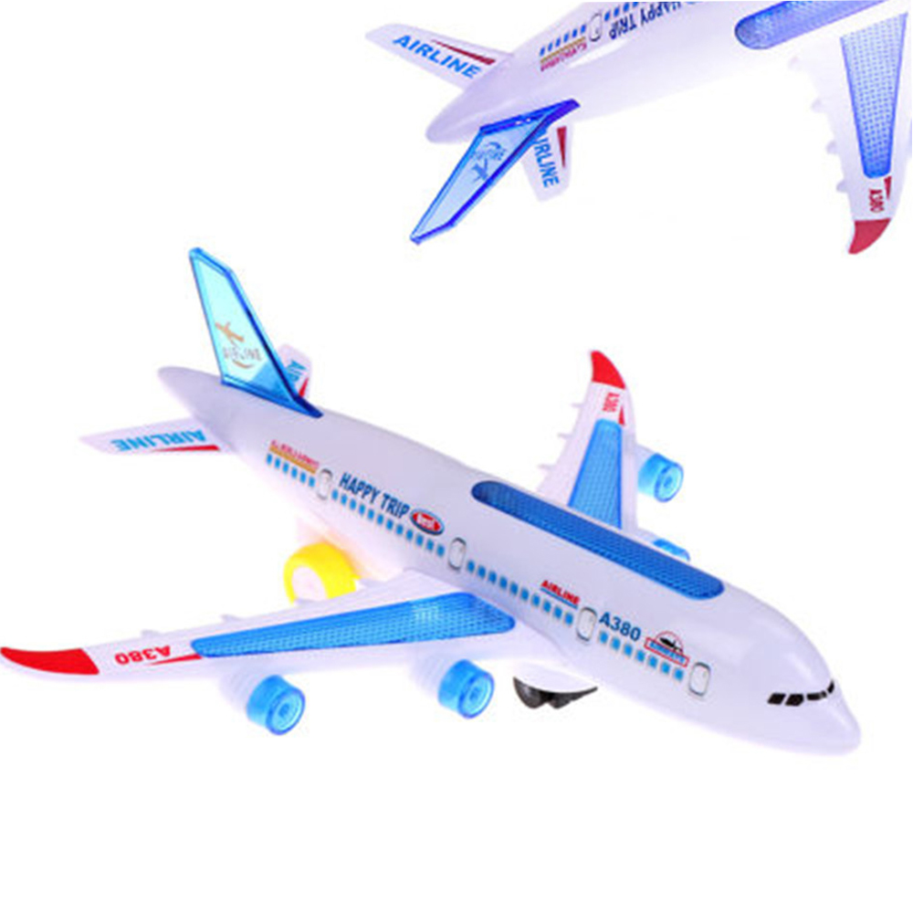 NEW Children Plastic <font><b>Airbus</b></font> <font><b>A380</b></font> <font><b>Model</b></font> Airplane Electric Flash Light Sound Toys Aircraft <font><b>Model</b></font> Airplane Toys for Kids image