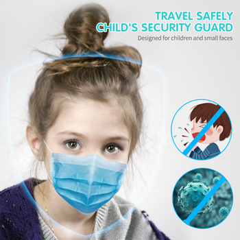 100pcs Non Woven Protective Face Mouth Mask For Kids Children Anti Flu Dust Pollution Respirator Safety Breathable Filter Mask