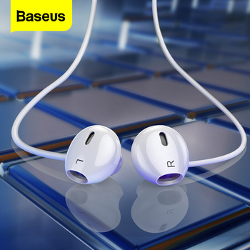 Baseus Wired Earphone In Ear Headset With Mic Stereo Bass Sound 3.5mm Jack Earphone Earbuds Earpiece For iPhone Samsung Xiaomi accezz 3 5mm jack in ear earphone for iphone 5 6 ipad xiaomi samsung universal hifi sport earbuds wired control with microphone