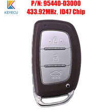 KEYECU Smart Remote Auto Schlüssel Fob 433,92 MHz ID47 für Hyundai Tucson 2016 2017 P/N: 95440 D3000