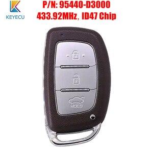 Image 1 - KEYECU Smart Remote Auto Schlüssel Fob 433,92 MHz ID47 für Hyundai Tucson 2016 2017 P/N: 95440 D3000