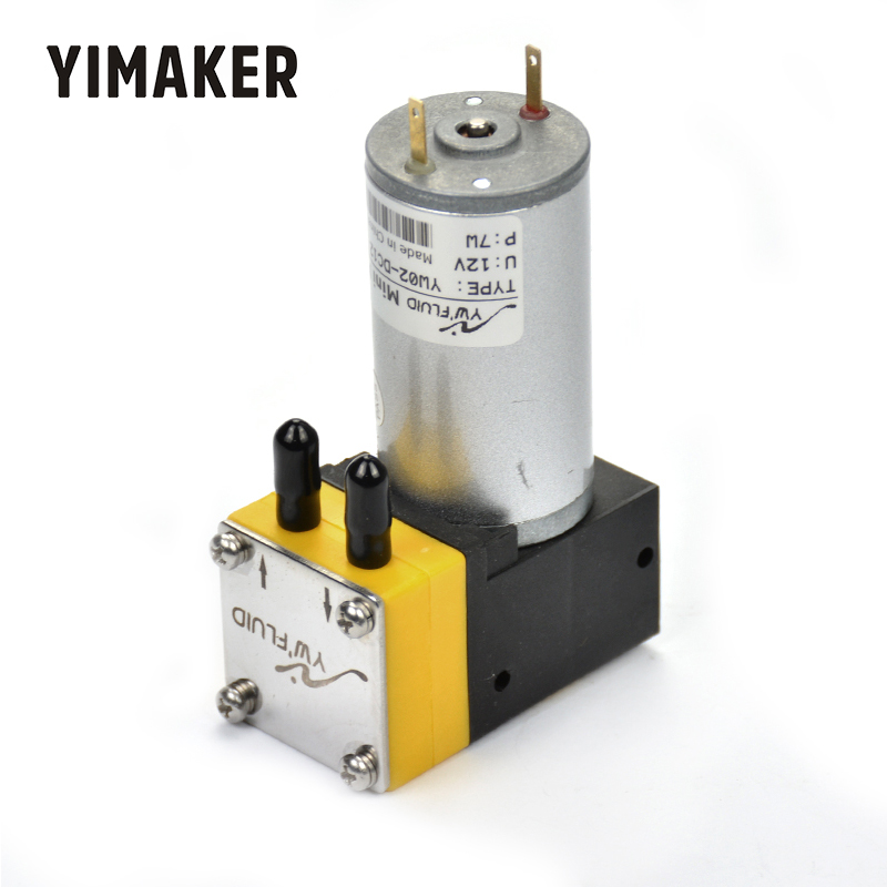 YIMAKER 1Pc Micro Vacuum Pump DC 12V 50Kpa Pumping Electric Air Sampling Liquid Pump Diaphragm Pumps