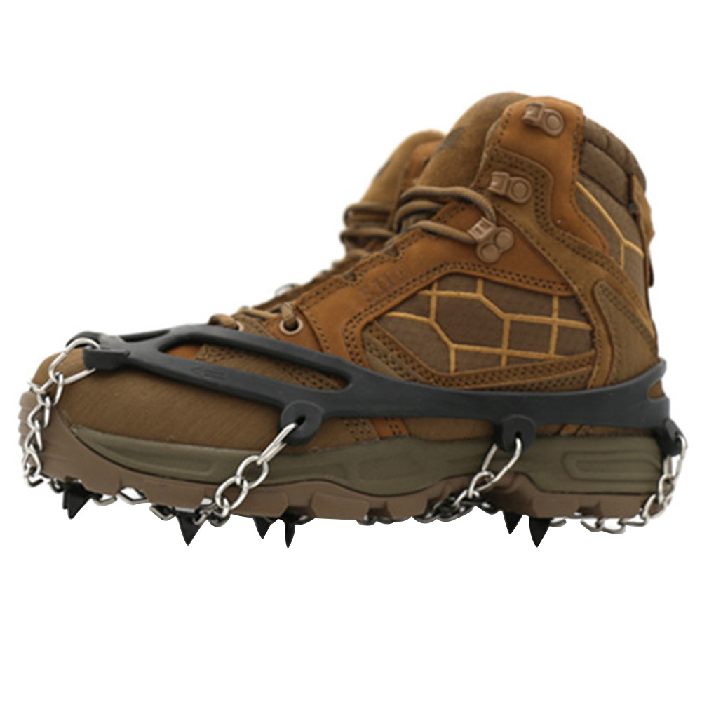 Spor ve Eğlence'ten Tırmanma Aksesuarları'de Kış manganez çelik sivri kar Cleats kaymaz buz tutucu kramponlar tırmanma yürüyüş ayakkabı kapağı açık title=