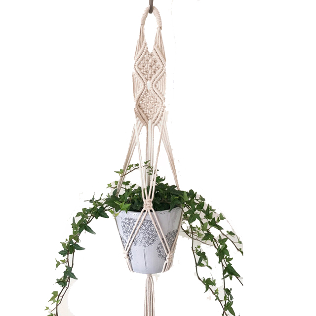 Offres spéciales 100% à la main macramé plante cintre fleur/pot cintre pour décoration murale pays jardin