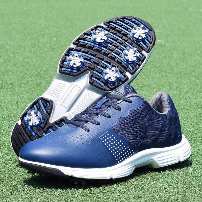 Men Professional Golf Shoes Waterproof Spikes Golf Sneakers Black White Mens Golf Trainers Big Size Golf Shoes for Men 13