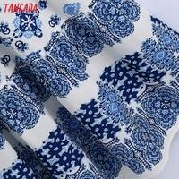 Tangada Boho Style Fashion Flowers Print Strap Dresses for Women 2021 Female Casual Long Dress BE136 5