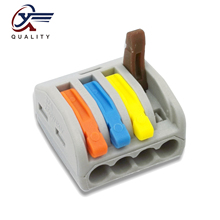 30/50/100 PCS/lot PCT-214 color 222-214 mini fast wire Connectors Universal Compact Wiring Connector push-in Terminal Block
