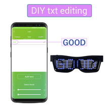 Bluetooth Led Party Glasses APP Control Luminous Glasses Party Eye Glasses