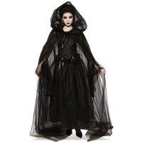 Halloween Witch Zombie Cosplay Costume Medieval Women Black Vampire Bride Dress Up Adult Canival Party Terror Scary Fancy Dress