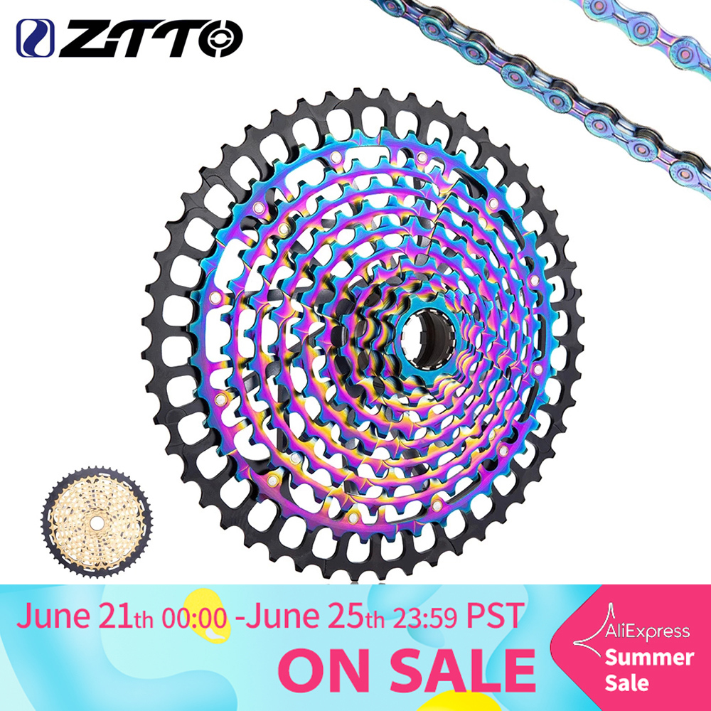 ZTTO MTB 11 Speed 9 50T Cassette XD Ultimate Pro ULT Golden Rainbow 372g Steel Durable Sprocket Ultralight 11s 9 50 k7 9 to 50