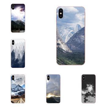 Para Galaxy Nota 10 Pro A10 A20 A20E A30 A40 A50 A60 A70 A80 A90 M10 M20 M30 M40 funda de teléfono de lujo montaña bosque nubes