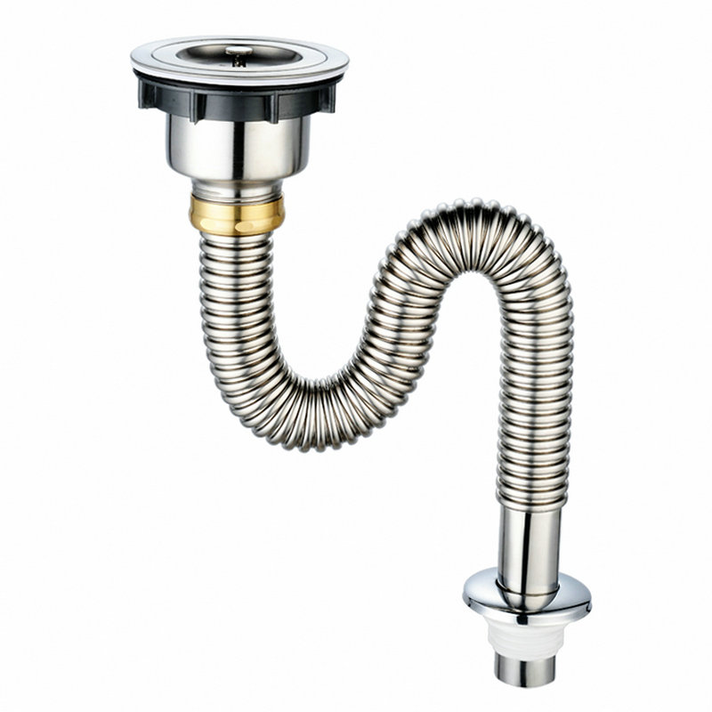 Kitchen Basins Down-flow Pipe Stainless Steel Kitchen Sink Pools Of Water Single Tank Water Fitting Odor-proof Rat Bite