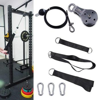 Fitness DIY Pulley Cable Machine System Arm Triceps Biceps Hand Strength Training Rope Adjustable Home Gym Workout Equipment aerobics trainer home gym fitness workout system adjustable aerobic platform cushion top 4 risers