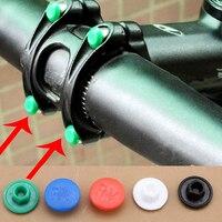 5 pçs bicicleta lidar com tampa de parafuso plástico m5 acessórios de equitação adequado para mountain bike bicicleta de estrada dobrável|Fita p/ guidão| |  -