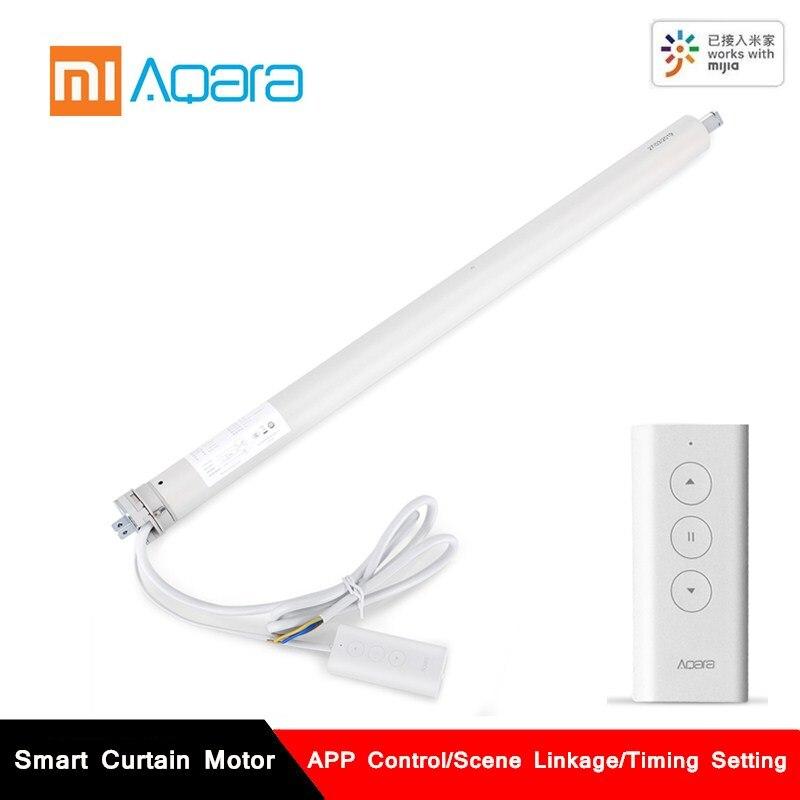 Aqara inteligente motor de cortina zigbee mijia casa inteligente app controle remoto sincronismo rolamento do obturador cortina do motor