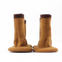 4 Pcs/Lot Table Ankle Sock Yarn Knitting Solid Color Chair Leg Cover Knitted Caps Dinner Room Floor Protector New Year Decor(China)
