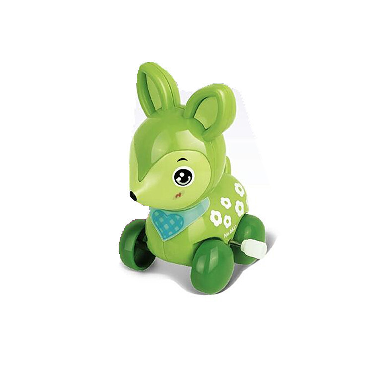 Stall Hot Selling Children'S Educational Creative Gift Winding Spring Sika Deer Cartoon Chain Small Animal Toy