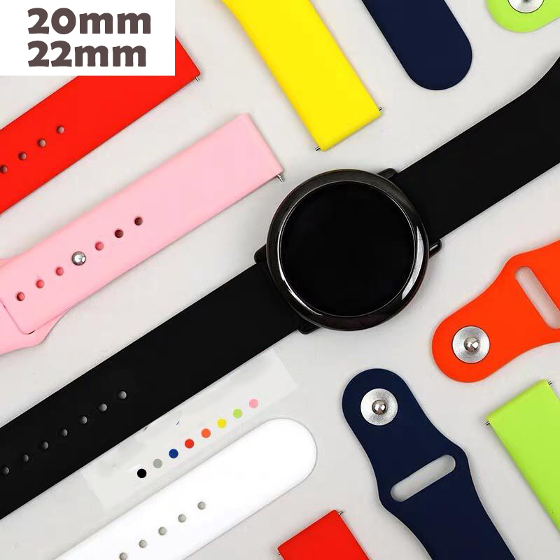 22mm 20mm Band For Samsung Galaxy Gear S3 Active Silicone Sport Watch Strap 42 46mm Band Gear S2 Class WatchBand