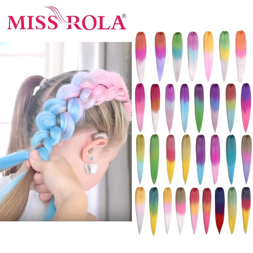 Miss Rola 22 дюйма 60 г Kanekalon волосы синтетические Джамбо косы Yaki прямые волосы удлинитель розовый блонд твист оплетка оптом