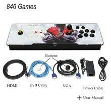 846 классические игры для дома, мультиплеер, аркадная игровая консоль, комплект контроллера, двойной джойстик, Детская игровая консоль, машина с вилкой США