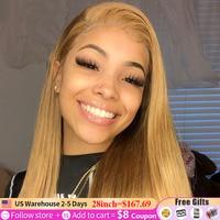 13x4 Lace Front Brazilian Human Hair (Black, Brown, Blonde)  1
