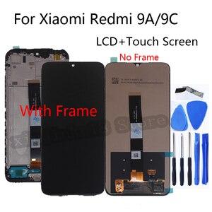 """Image 1 - 6.53 """"xiaomi redmiのためのオリジナル新9A lcdディスプレイ画面のタッチスクリーンデジタイザの交換修理部品redmi 9C画面"""