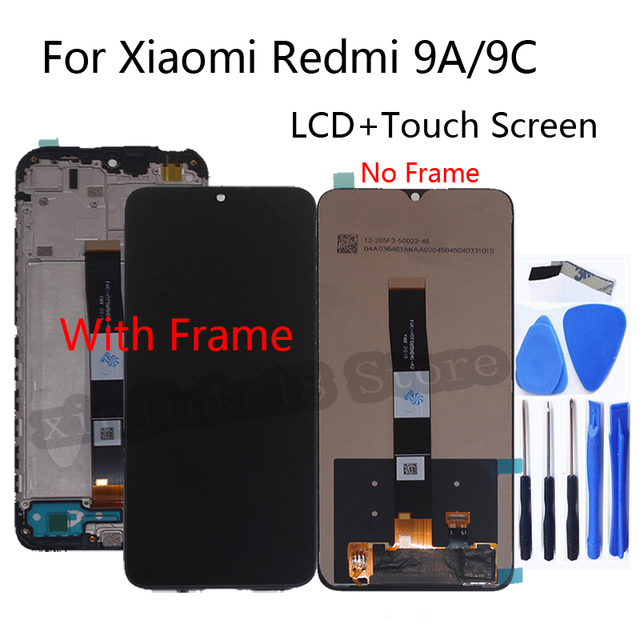 """6.53 """"xiaomi redmiのためのオリジナル新9A lcdディスプレイ画面のタッチスクリーンデジタイザの交換修理部品redmi 9C画面"""