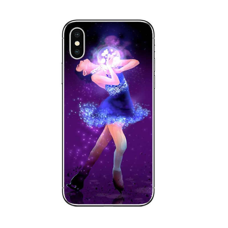 Korea Queen Kim Yuna Ponsel Case Penutup Silikon untuk iPhone 7 8 6 6S PLUS 5 5S SE X xr X Max Telepon Kasus Jepang Marin Honda Coques