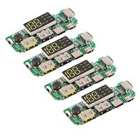 4pcs 18650 Battery Charger Protection Module Mobile Power PCB Module Board Dual USB 5V 1A 2.1A With BMS Protection|Battery Accessories| |  -