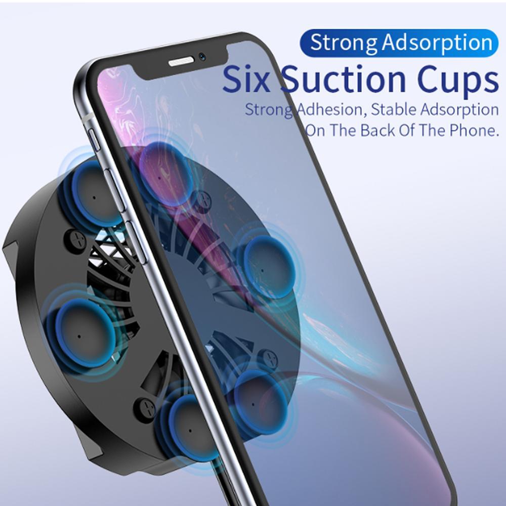 Универсальный мобильный телефон радиатор игровой телефон кулер регулируемый портативный вентилятор держатель теплоотвод для iPhone Samsung Huawei ...