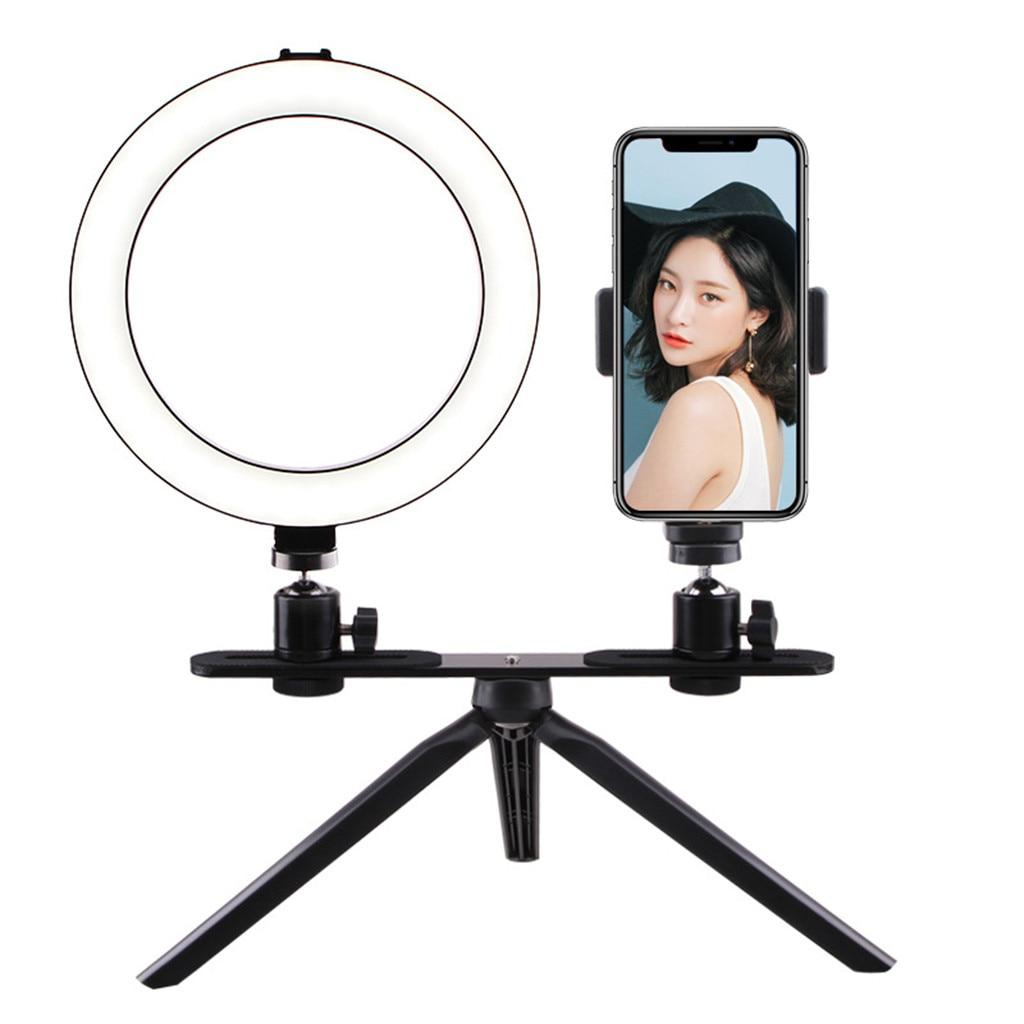 Desktop Bracket Supplementary Light LED Beauty Ring Light Mobile Phone Live Trip aro luz led tripode