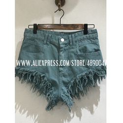 2020 denim shorts summer style cowgirl shorts Women's new frayed loose rough edges ripped jeans shorts high quality pants
