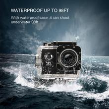 HD Action Camera Waterproof Camera 2.0 Inch motorcycle helmet camera HD Extreme Sports DV Camera Novice Accessories