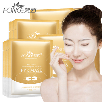 Fonce Korea Hexapeptide Anti-Wrinkle And Moisturizing Silk Eye Fade Lines Bags Under The Eyes Dark Circles 10 Pieces