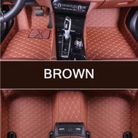 Custom 3D car floor Foot mat For Hyundai Solaris Elantra Sonata Accent etc waterproof PU leather carpet car inter accessories