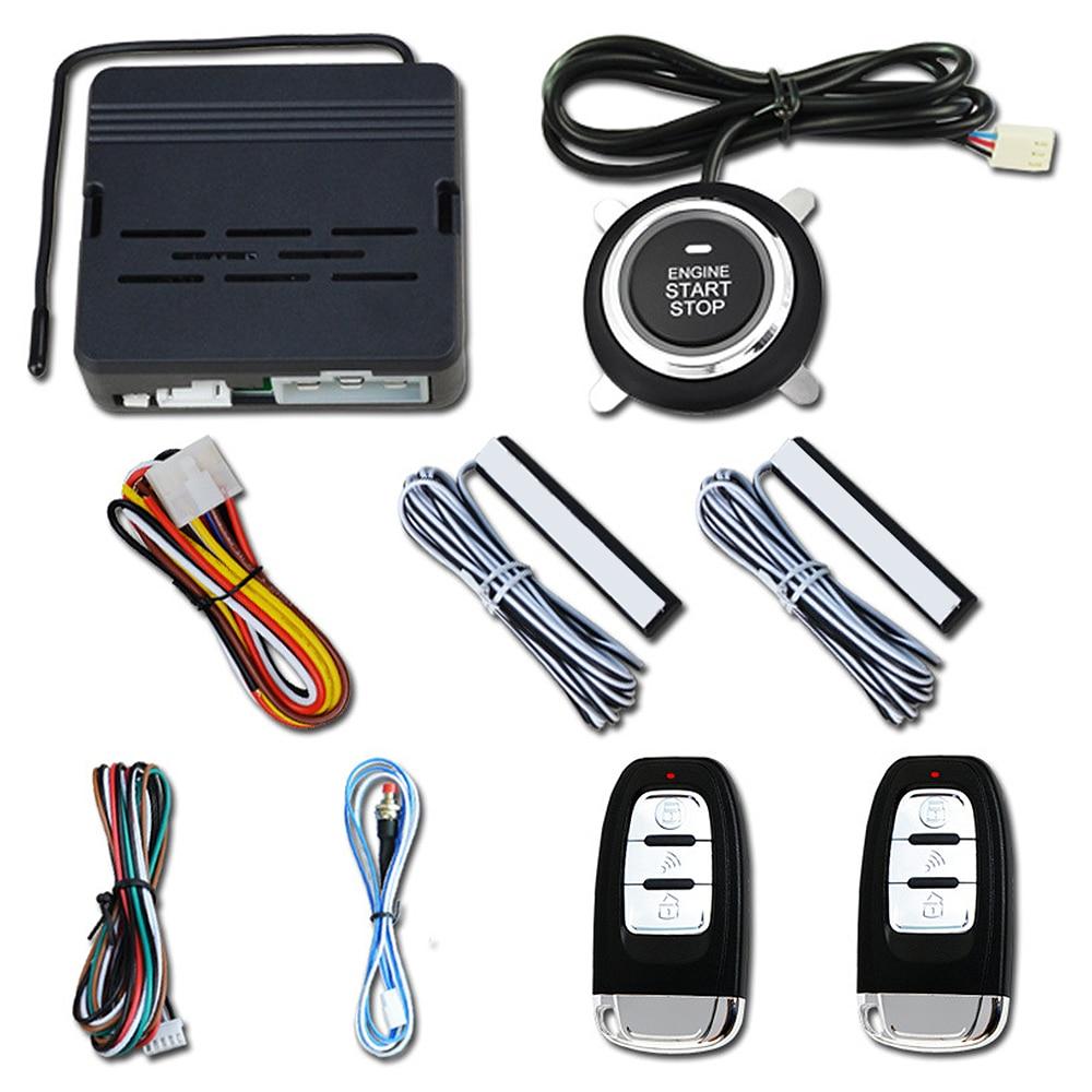 Système d'alarme de démarrage de moteur à distance sans clé de voiture bouton poussoir universel bouton d'arrêt de démarrage d'alarme sans clé de voiture - 2