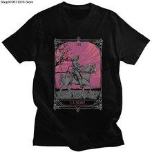 Винтажная Мужская футболка с изображением дамы Святого смерти