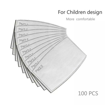 100pcs/Lot PM2.5 Activated Carbon Filter Paper  for children design Mouth Face Mask Health Care