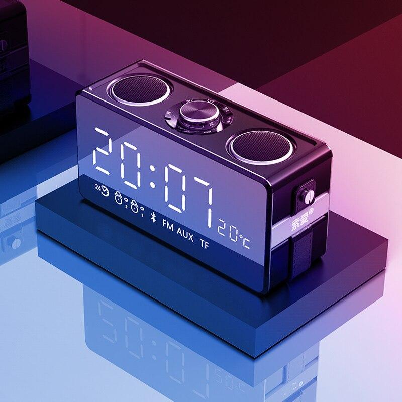 Espelho mágico 25W Música estéreo de Alta Qualidade Sem Fio Bluetooth Speaker Portátil caixa de som surround Orador Ao Ar Livre Baixo TF/ FM/USB - 4