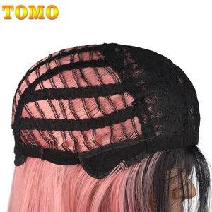 Image 5 - TOMO 70 ซม.ยาวตรง Ombre วิกผมสังเคราะห์สำหรับผู้หญิงคอสเพลย์วิกผมธรรมชาติสีชมพูสีแดงสีเขียวสีบลอนด์สีน้ำตาลความร้อนสีเทาผม