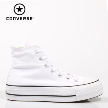 Converse Chuck Taylor All Star Platform Clean High Top White SNEAKERS Woman Shoes Casual Fashion 69224