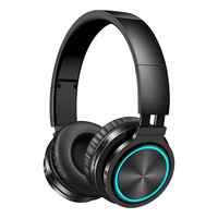 Picun B12 Wireless Headphones Bluetooth 5.0 Headphone with 7 Color Led Light 36H Play time Supoort TF card Headset for phone Pc