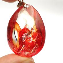 Genuine Natural Red Limonite Quartz Phantom Crystal Pendant 38x27x21mm For Women Man Rare Fashion Multi-inclusions AAAAA newly natural red limonite quartz phantom crystal rare 38x30x17mm pendant for women man rare fashion aaaaa