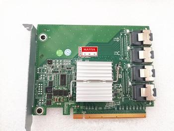 8MW60 08MW60 Mini SAS SFF-8087 4 Ports PCIe SSD SAS Bridge Expander Card for dell poweredge R720 R820