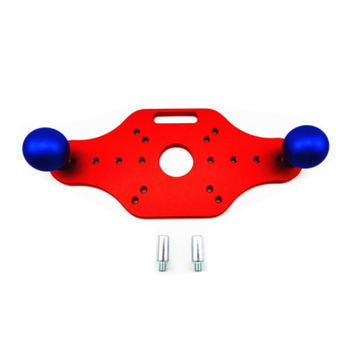 Trimming Machine Bottom Plate Bakelite Milling Mounting Plate for Woodworking Trimming Slotted Chamfer(Red)