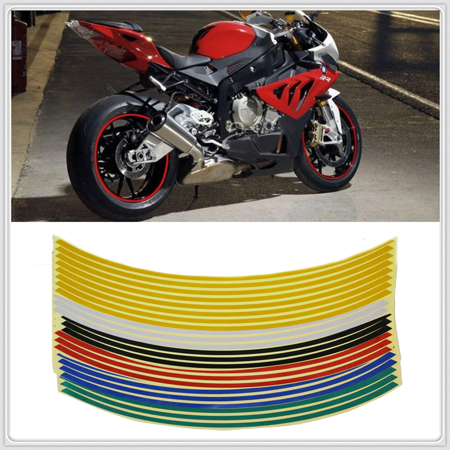 Motocycle Rim Reflective <font><b>Sticker</b></font> bike <font><b>Decal</b></font> 17'/18' Wheel For <font><b>SUZUKI</b></font> SFV650 GLADIUS SV650 TL1000S 600 <font><b>750</b></font> KATANA image