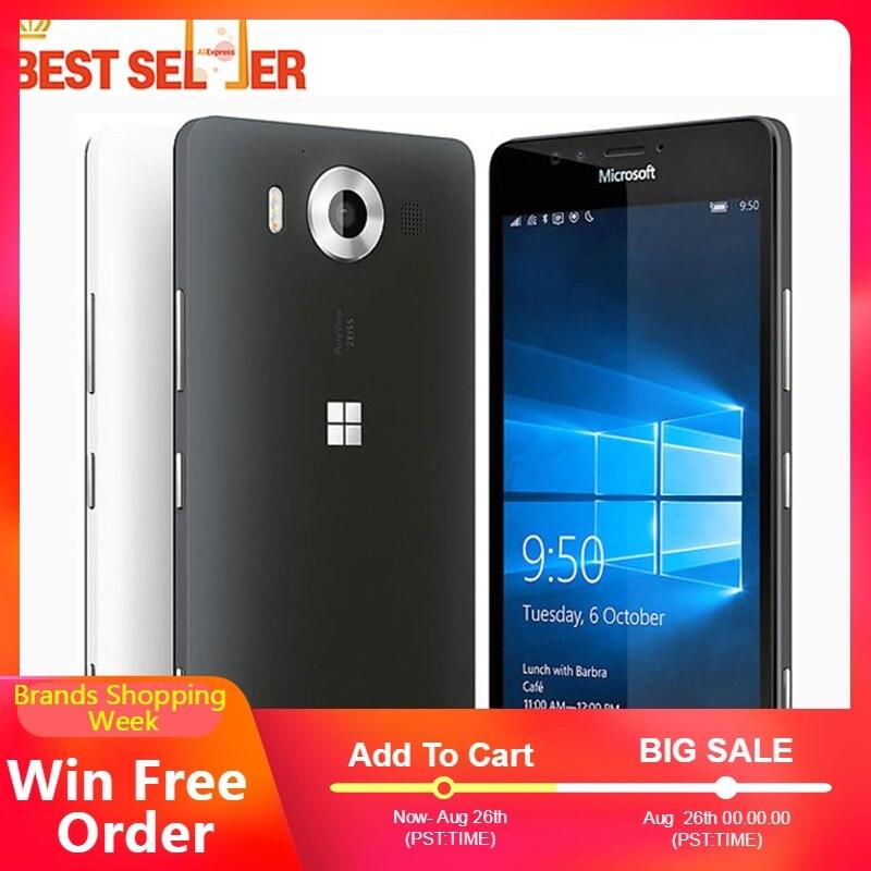 """Oryginalny Nokia Microsoft Lumia 950 L950 20MP kamera NFC rdzeniowy Hexa 32GB ROM 3GB pamięci RAM telefon komórkowy LTE FDD 4G 5.2 """"2560x1440 pikseli w Telefony Komórkowe od Telefony komórkowe i telekomunikacja na AliExpress - 11.11_Double 11Singles' Day 1"""