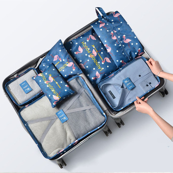 7PCs/Set Travel Storage Bag For Clothes Functional Travel Accessories Luggage Organizer High Capacity Waterproof  Packing Cubes